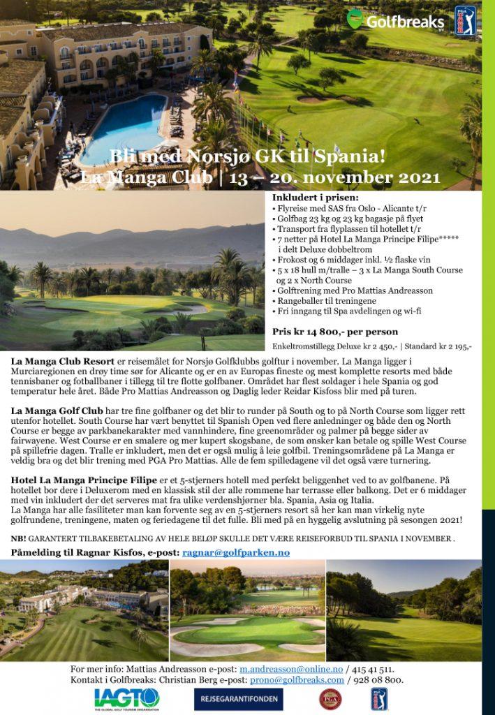 Golfreise for Norsjo GK til La Manga 13 20